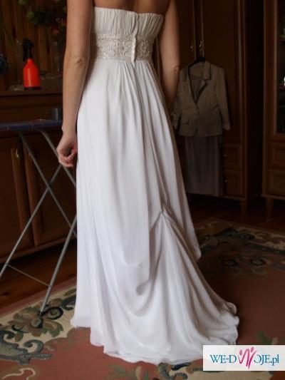 Piękna suknia w stylu empire