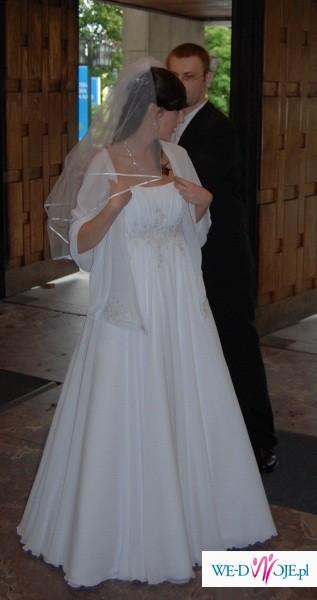 Przepiękna, muślinowa suknia Biancaneve z krysztalkami SWAROVSKIEGO (rozm.36/38)