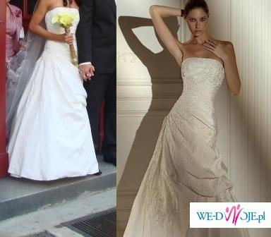 Przepiękna suknia PRONOVIAS Nepal ecru r.36-38