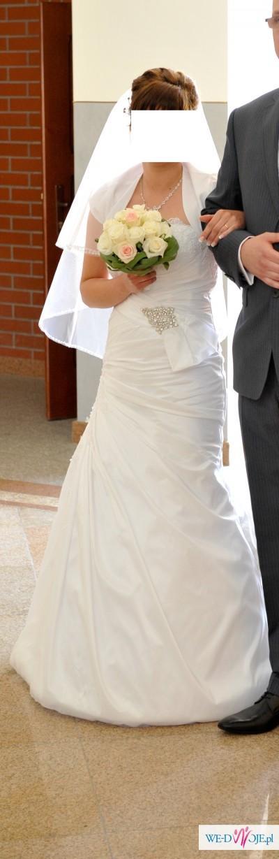 Przepiekna suknia ślubna z najnowszej kolekcji r. 36
