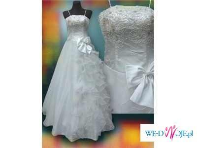 przepiekna suknia z gratisami