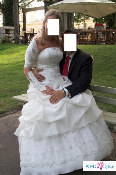 śliczna Dwuczęściową Suknię ślubną Firmy Julia Gastoł W Kolorze