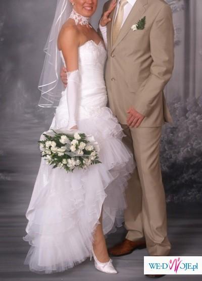 sprzedam bardzo ładną elegancką suknię ślubną