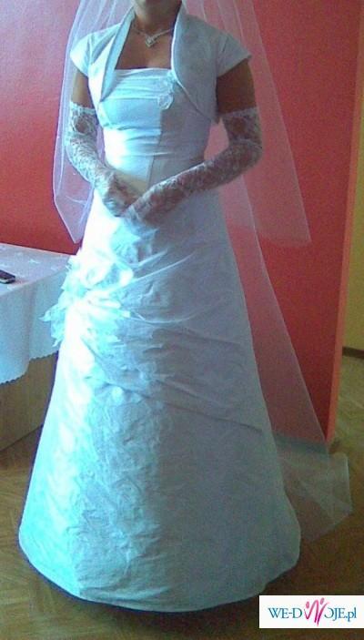 48c634bc0e sprzedam bardzo ładną suknię ślubną z dodatkami. - Suknie ślubne ...