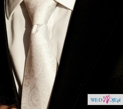Sprzedam jedwabny krawat ślubny - OKAZJA!