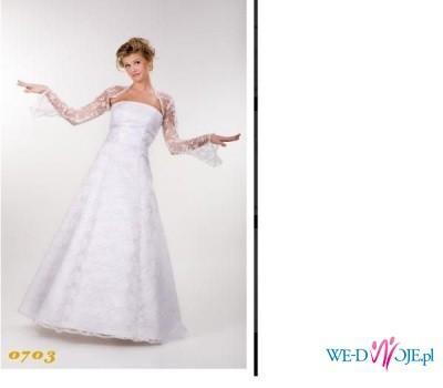 sprzedam koronkowa biala suknie slubna Emma 703
