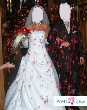 Sprzedam piękną francuską suknię ślubną model DENOTO +GRATISY!!