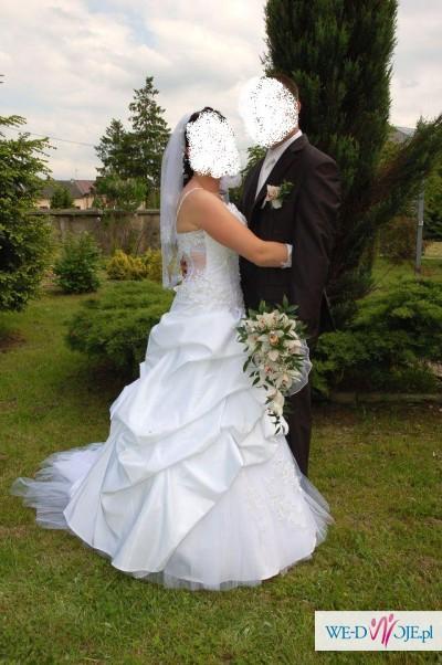 Sprzedam śliczną biała suknie 38/40