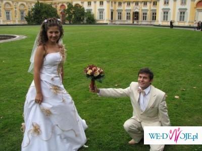 Sprzedam suknię ślubną w kolorze bieli