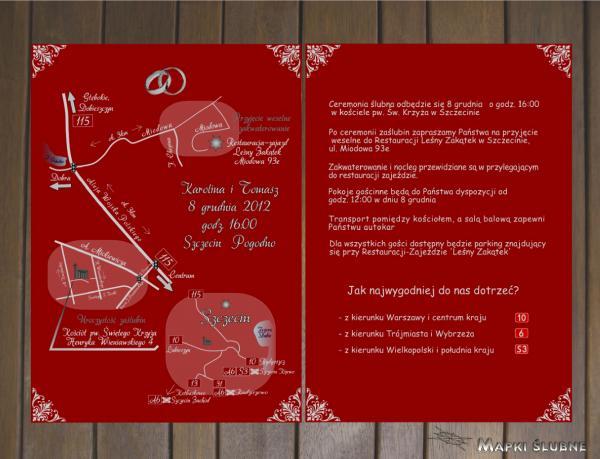 Zdjęcia Star Graf Oryginalne Zaproszenia Oraz Mapy ślubne Baza