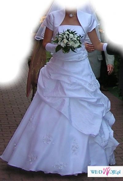 Suknia biała. rozm.36/38, MS Moda model-Suzi, stan idealny.