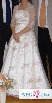 suknia ecru