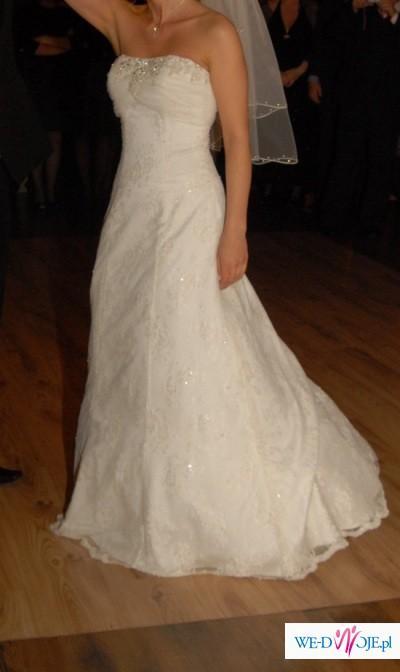 suknia ivory koronkowa Cosmobella