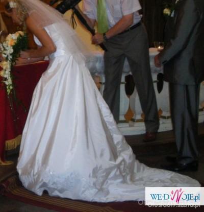 Suknia ślubna 36 Biała Z Podpinanym Trenem Suknie ślubne