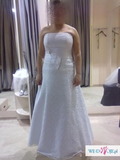 Suknia ślubna Agnes 2013 rozm 42-46 + dodatki