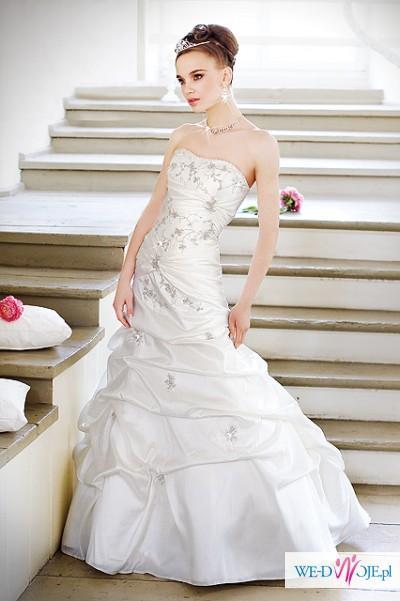 Suknia ślubna Annais model Lucy,ivory, r.36 + dodatki