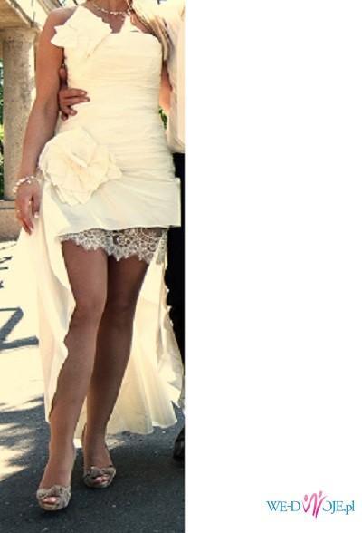 ad531891ca suknia ślubna asymetryczna cymbeline - Suknie ślubne - Zdjęcie 1 ...