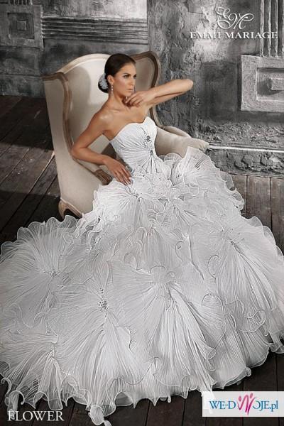 aeaa7eb1cd Suknia Ślubna Emmi Mariage Flower 34 36 lub 38 - Suknie ślubne ...