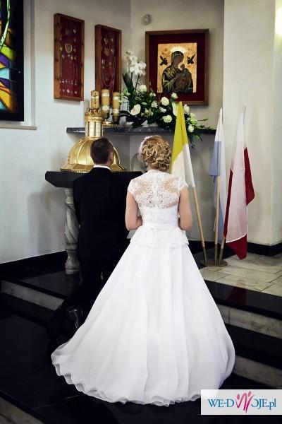 Suknia ślubna Gala Bianka Biała 38 Koronka Suknie ślubne Zdjęcie