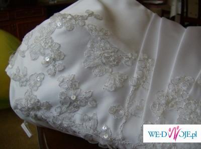 Suknia ślubna Madame Zaręba, tanio, piękna biała suknia rozmiar 36/38