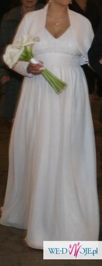 Suknia ślubna rozm. 42 nie tylko dla ciężarnej