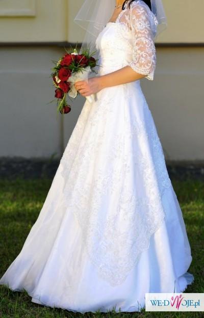suknia ślubna (welon i bolerko gratis)