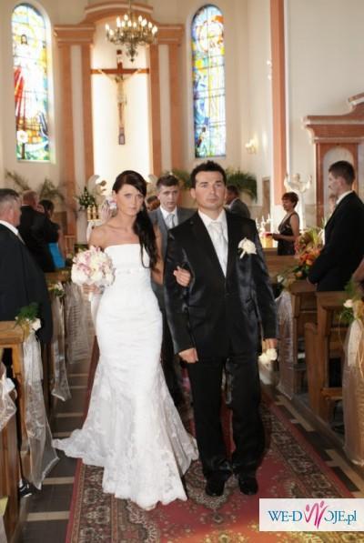Suknia ślubna WHITE ONE 424 r. 34/36 PRONOVIAS India - koronka