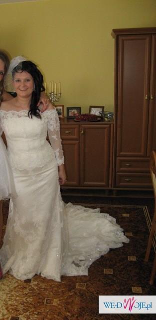 Suknia ślubna White One 424  rozm 40+bolerko