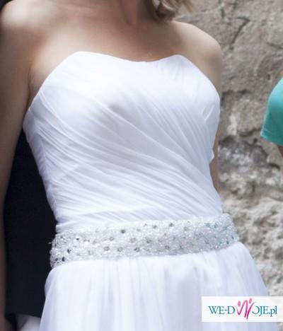 Suknia ślubna Z Muślinu Kryształki Muślin Suknie ślubne