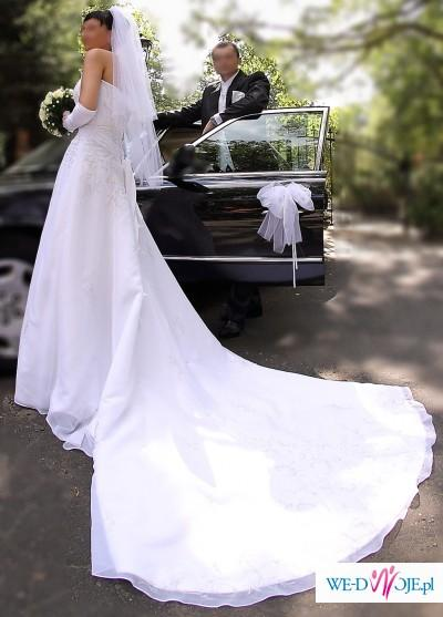 Suknia ślubna Z Podpinanym Trenem R 36 38 Suknie ślubne Zdjęcie