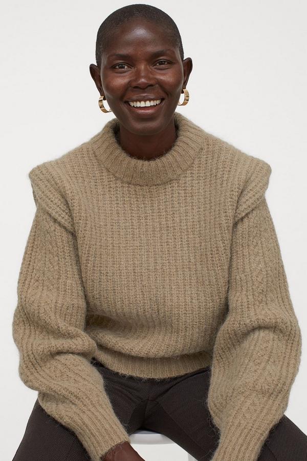 sweter z szaerokimi ramionami H&M