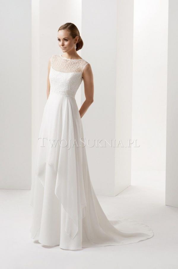 Szlachetna Elegancja Gala Grafina Piękna Prosta Suknia ślubna