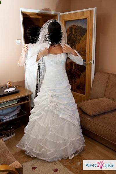 tanio sprzedam sukienkę ślubną