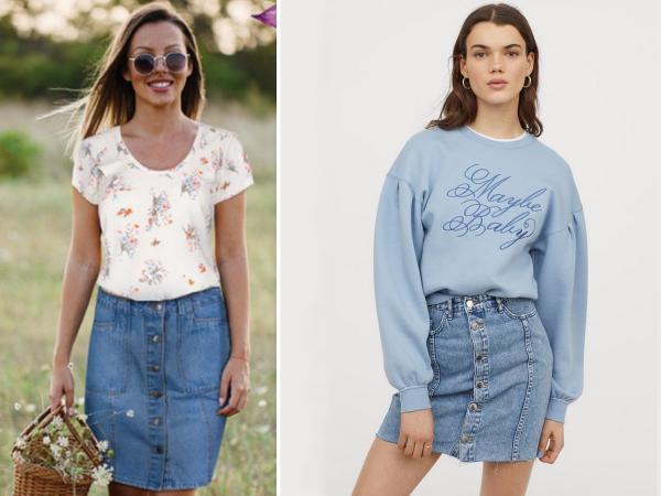 jeansowa spódnica z Biedronki czy z H&M