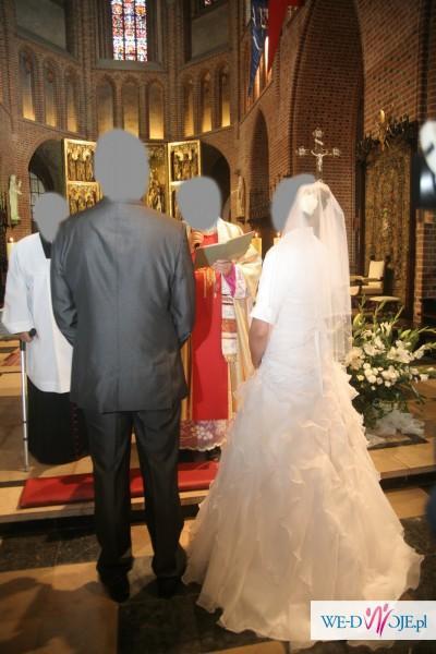Wyjątkowa biała suknia ślubna, stan bdb!