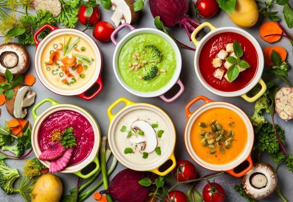 Zupy krem z warzywami