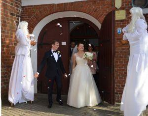Anioły ślubne, Animator dla dzieci na weselu, pokaz baniek m