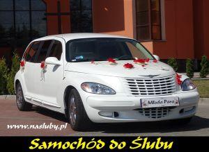 Auto do ślubu, biała Limuzyna Chrysler PT, Chrysler 300C