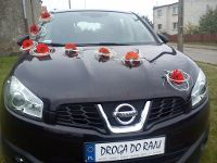 Auto do Ślubu Na wesele Nissan Elegancki Suv