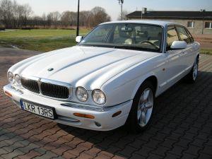 Biały Luksusowy Jaguar XJ8