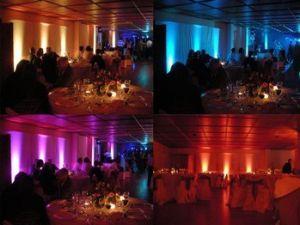 Dekoracyjne oświetlenie sali