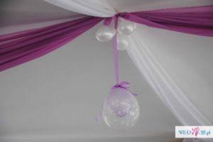 Dekorowanie sal weselnych, kompleksowa organizacja imprez