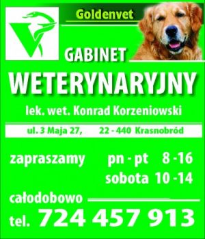 Gabinet Weterynaryjny GoldenVet Konrad Korzeniowski