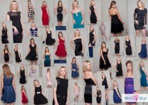 HURT - 120 SZTUK! Nowa Odzież Damska Sukienki wieczorowe wizytowe eleganckie do