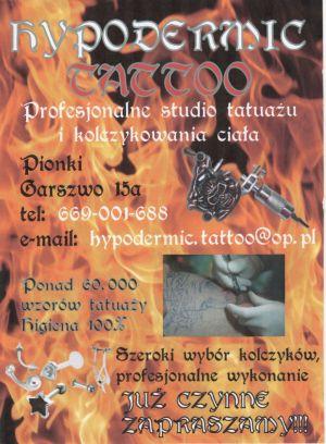 HYPODERMIC TATTOO studio tatuażu i piercingu