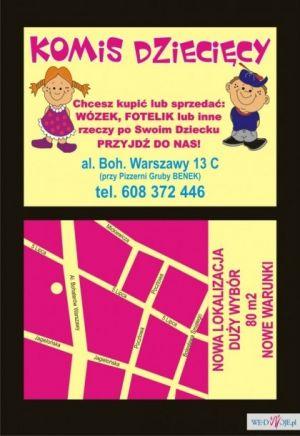 Komis art. dziecięcych Szczecin Boh. Warszawy 13c