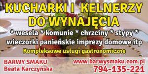Kucharki na wesele wraz z obsługą śląsk i małopolska