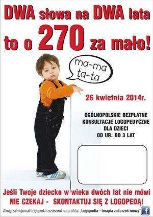 Ogólnopolskie bezpłatne konsultacje logopedyczne od 26.04