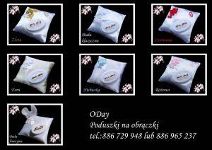 producent poduszek na obrączki, podwiązki - ODay