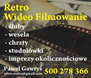 Retro Wideo Filmowanie Paweł Gawryś